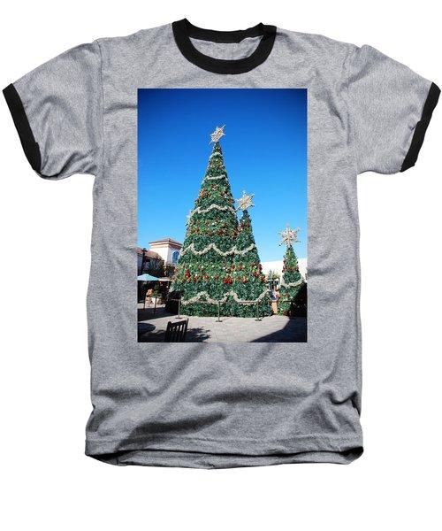 Courtyard Christmas Baseball T-Shirt by Beverly Stapleton