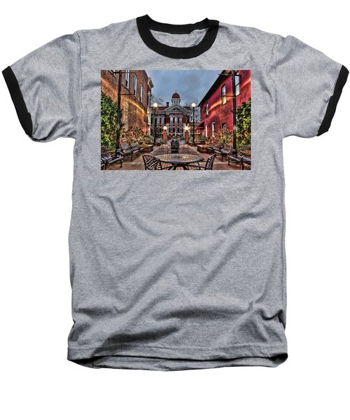 Courtyard Courthouse Baseball T-Shirt