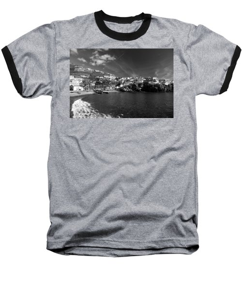 Cove In Black And White Baseball T-Shirt
