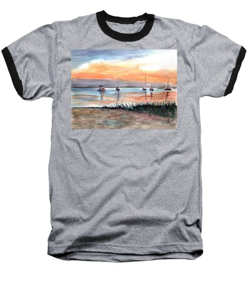 Cove Sunrise Baseball T-Shirt by Clara Sue Beym