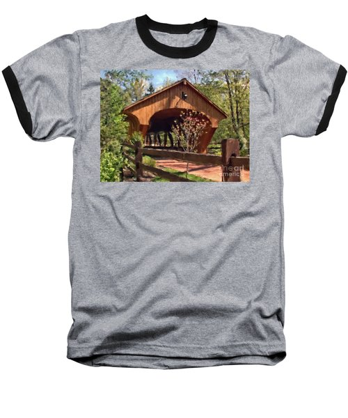 Covered Bridge At Olmsted Falls-spring Baseball T-Shirt