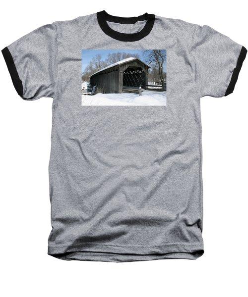 Covered Bridge In Winter Baseball T-Shirt