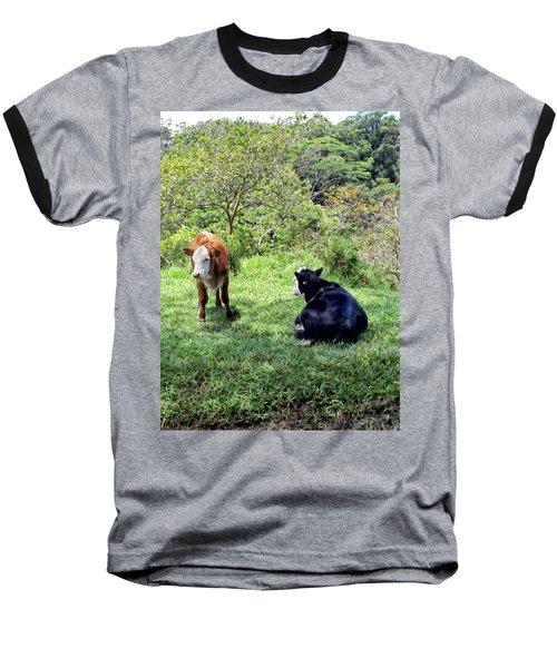 Baseball T-Shirt featuring the photograph Cow 4 by Dawn Eshelman