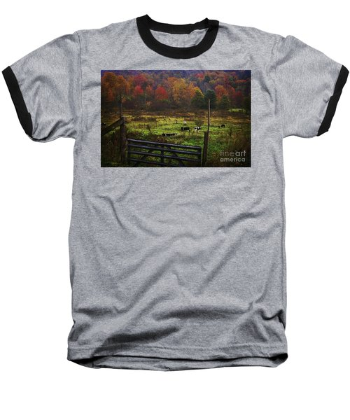 Baseball T-Shirt featuring the photograph Cow Pasture In Autumn by Debra Fedchin