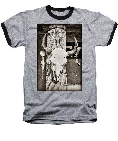 Cow Skull Baseball T-Shirt