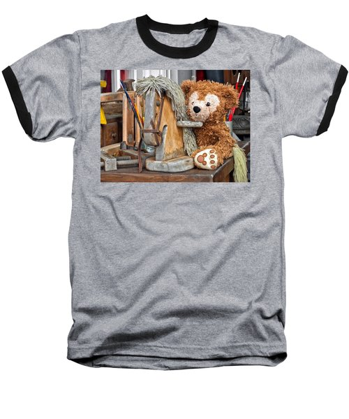 Baseball T-Shirt featuring the photograph Cowboy Bear by Thomas Woolworth
