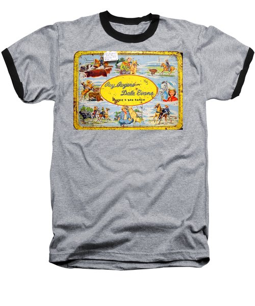 Cowboy Lunchbox Baseball T-Shirt by Ed Weidman