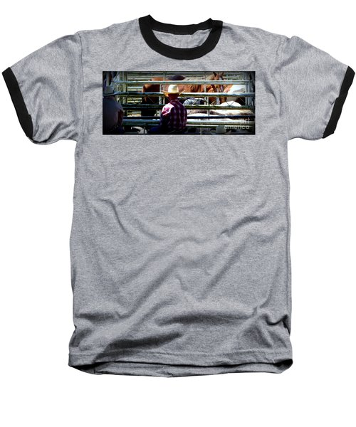 Cowboys Corral Baseball T-Shirt by Susan Garren
