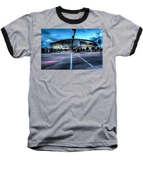 Cowboys Stadium Pregame Baseball T-Shirt by Jonathan Davison
