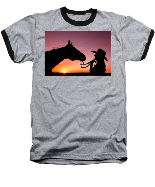 Cowgirl Sunset Baseball T-Shirt