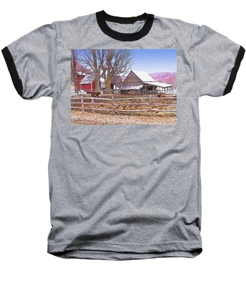Cows At Jenne Farm Baseball T-Shirt