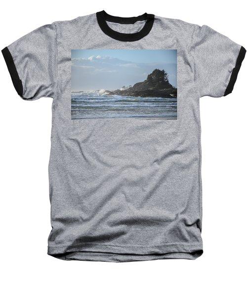 Cox Bay Afternoon Waves Baseball T-Shirt