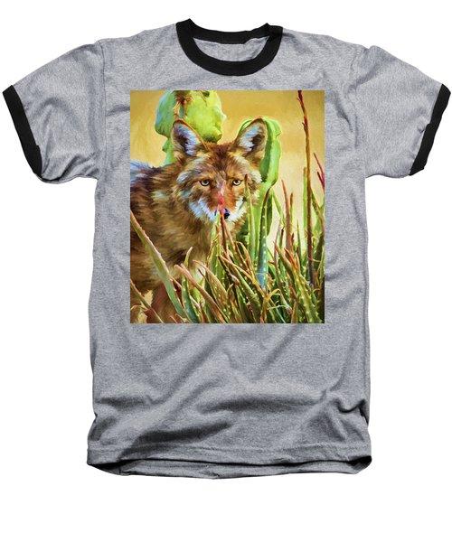 Coyote In The Aloe Baseball T-Shirt