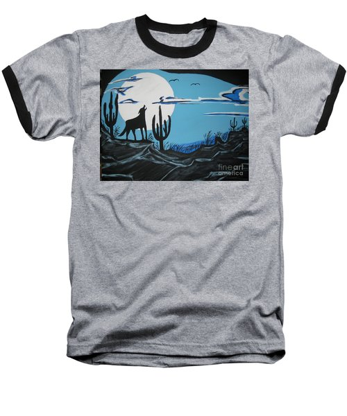 Baseball T-Shirt featuring the painting Coyote by Jeffrey Koss