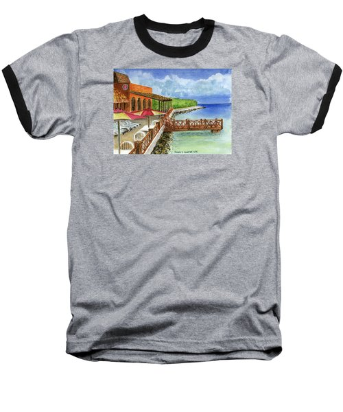 Cozumel Mexico Little Pier Baseball T-Shirt by Frank Hunter
