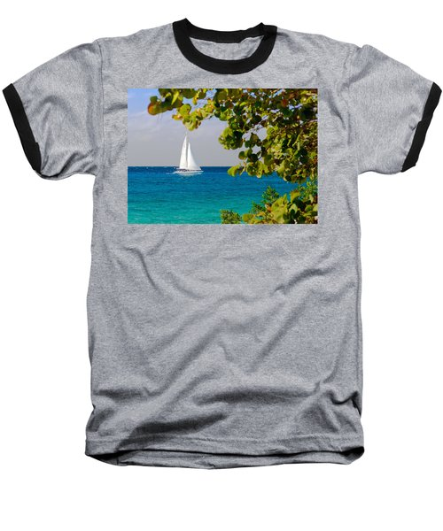 Cozumel Sailboat Baseball T-Shirt