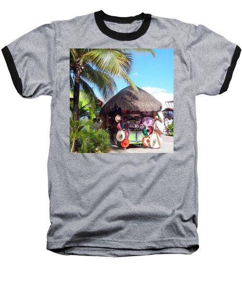 Cozumel Souvernir Shopping Baseball T-Shirt by Debra Martz