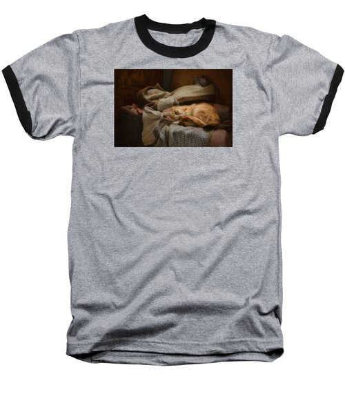 Baseball T-Shirt featuring the photograph Cozy by Robin-Lee Vieira