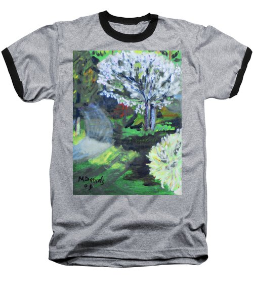 Baseball T-Shirt featuring the painting Crab Apple Tree by Michael Daniels