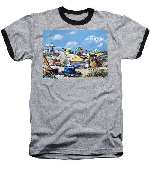 Crab Pickin Baseball T-Shirt by Gail Butler