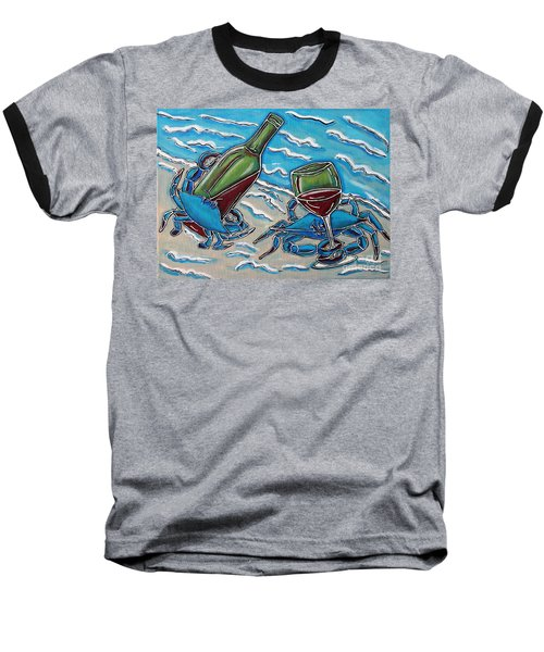 Crab Wine Time Baseball T-Shirt