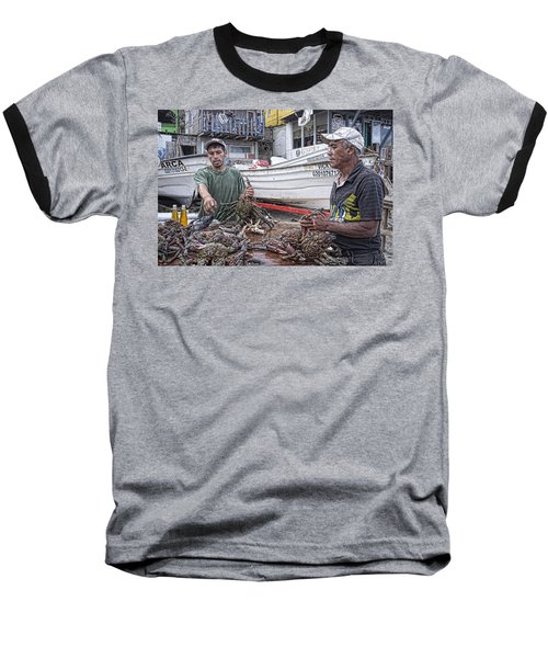 Crabbers At Popotla Baseball T-Shirt by Hugh Smith