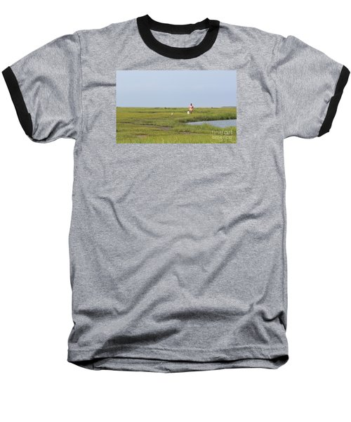 Baseball T-Shirt featuring the photograph Crabbing At Mystic Island by David Jackson