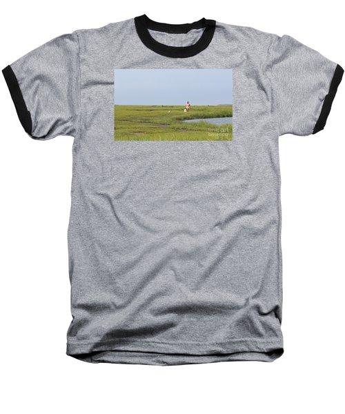 Crabbing At Mystic Island Baseball T-Shirt
