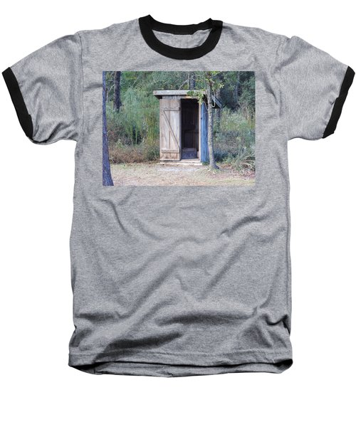 Cracker Out House Baseball T-Shirt by D Hackett