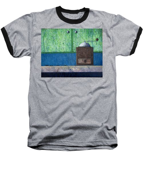 Baseball T-Shirt featuring the painting Crafting Creation by A  Robert Malcom
