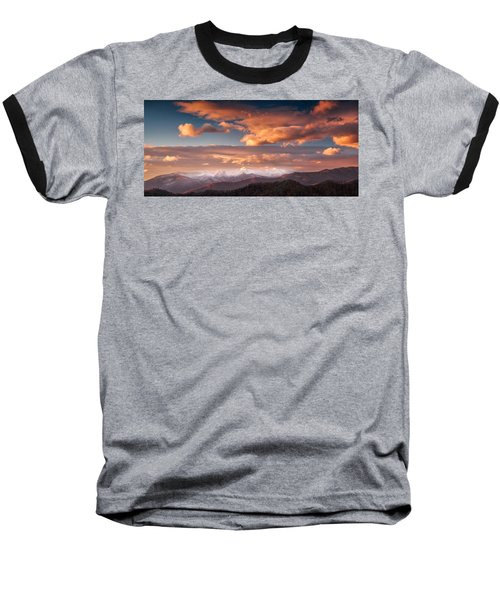 Baseball T-Shirt featuring the photograph Craggy Snow by Joye Ardyn Durham