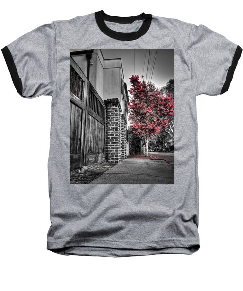 Crape Myrtles In Historic Downtown Charleston 2 Baseball T-Shirt