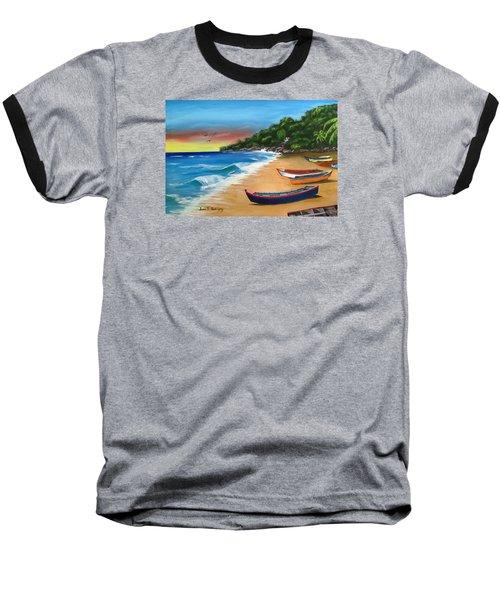 Crashboat Beach Wonder Baseball T-Shirt by Luis F Rodriguez
