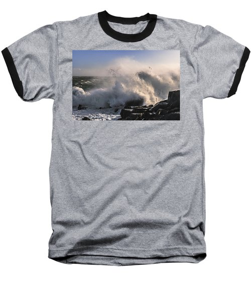 Baseball T-Shirt featuring the photograph Crashing Surf by Marty Saccone