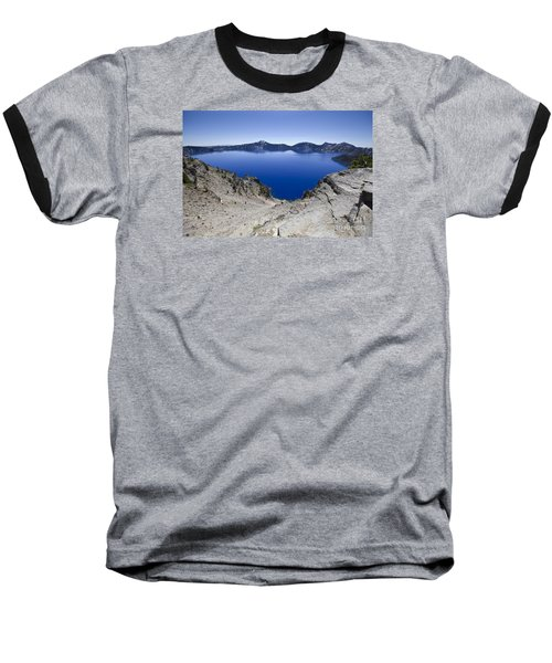 Baseball T-Shirt featuring the photograph Crater Lake by David Millenheft