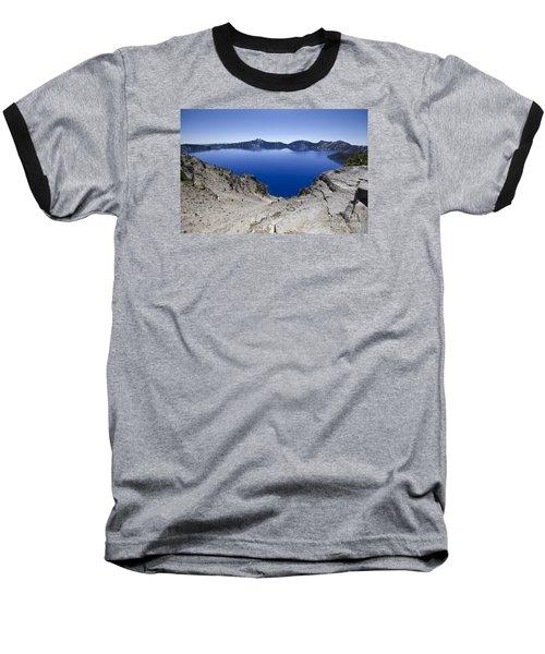Crater Lake Baseball T-Shirt by David Millenheft