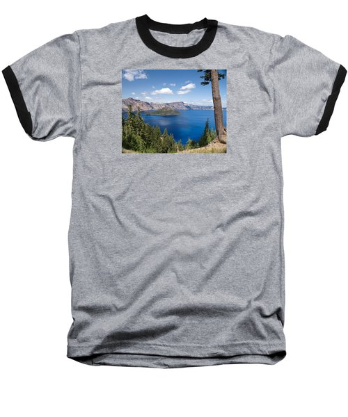 Crater Lake National Park Baseball T-Shirt by Diane Schuster