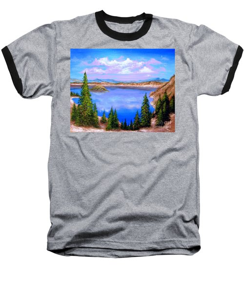 Crater Lake Oregon Baseball T-Shirt
