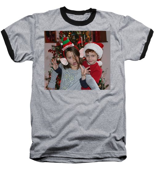 Crazy Christmas Baseball T-Shirt
