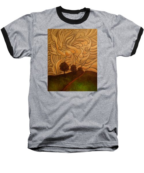 Crazy Sky Baseball T-Shirt by John Stuart Webbstock