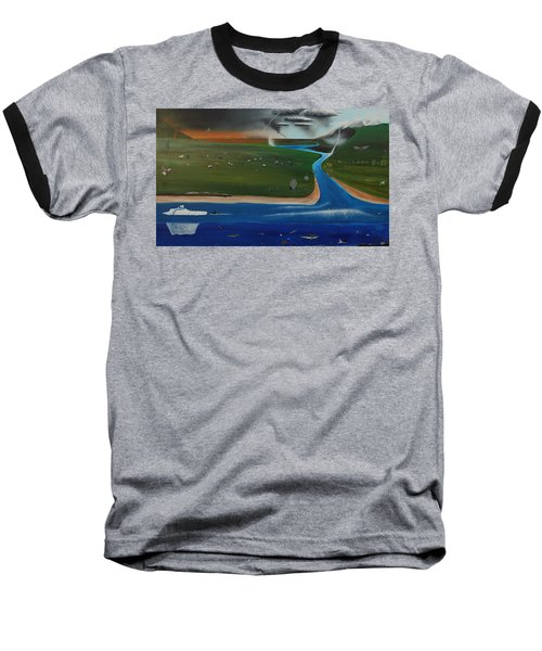Baseball T-Shirt featuring the painting Creation And Evolution - Painting 1 Of 2 by Tim Mullaney