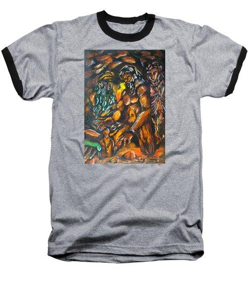 Baseball T-Shirt featuring the pastel Creation Creacion by Lazaro Hurtado