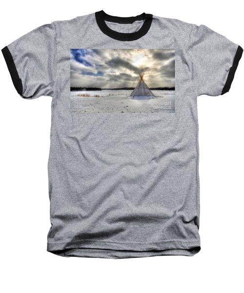 Cree Tepee Baseball T-Shirt