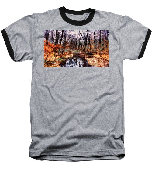 Creek At Pyramid Mountain Baseball T-Shirt