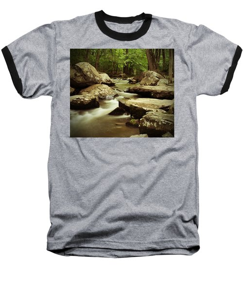 Creek At St. Peters Baseball T-Shirt by Michael Porchik