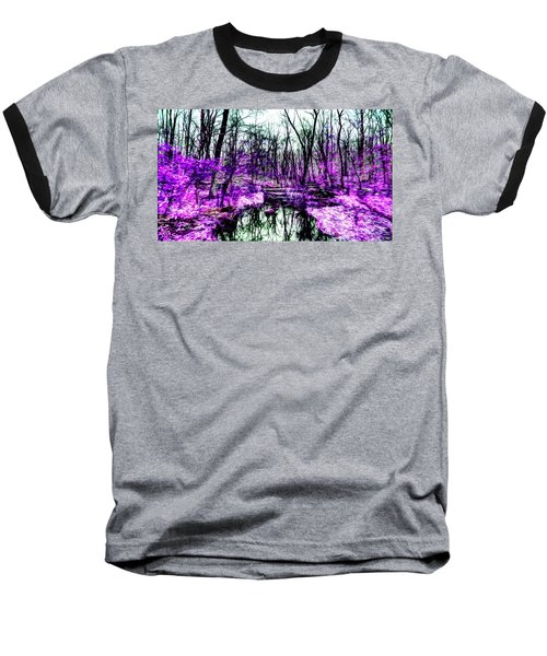 Creek By Purple Baseball T-Shirt