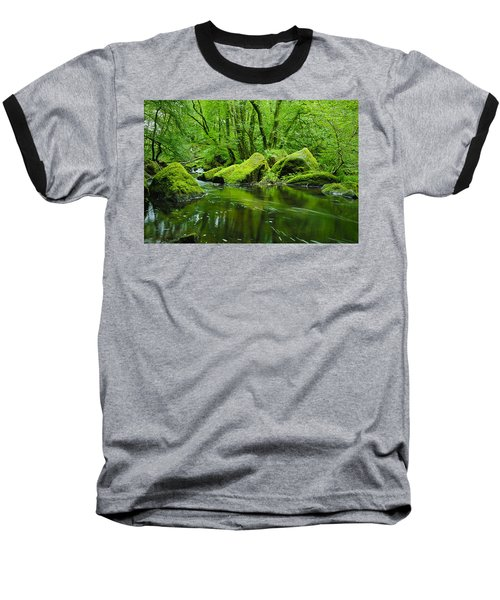 Creek In The Woods Baseball T-Shirt