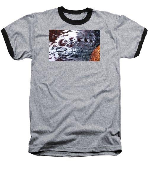 Creek Twirls Abstract Macro Baseball T-Shirt