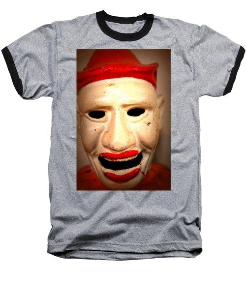 Creepy Clown Baseball T-Shirt by Lynn Sprowl