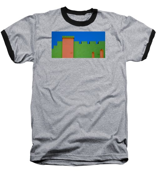 Crenellated Roof Baseball T-Shirt